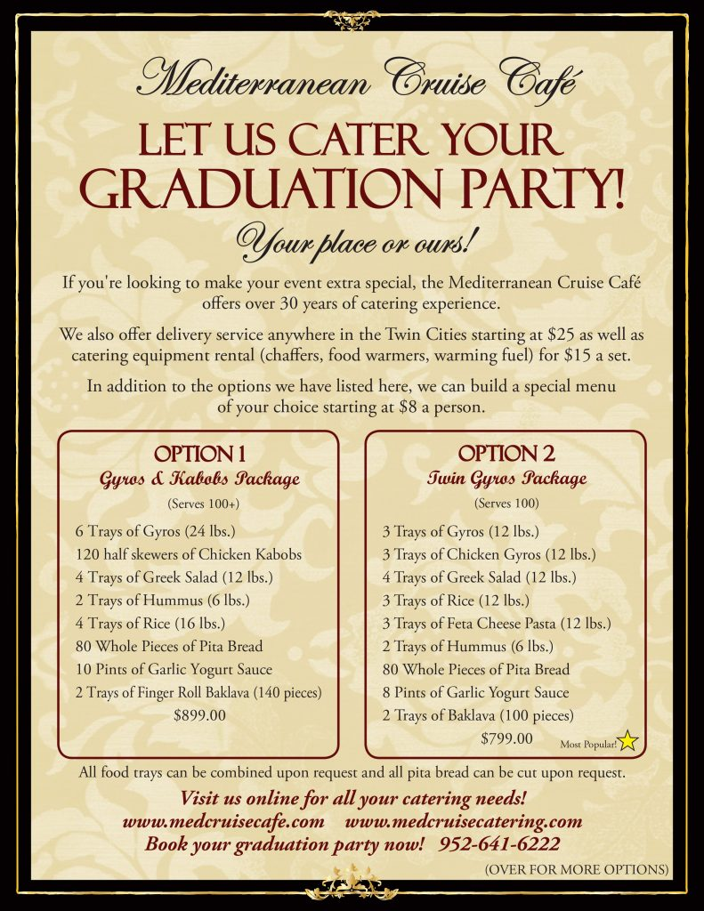 Graduation Catering Menu 2017_side1