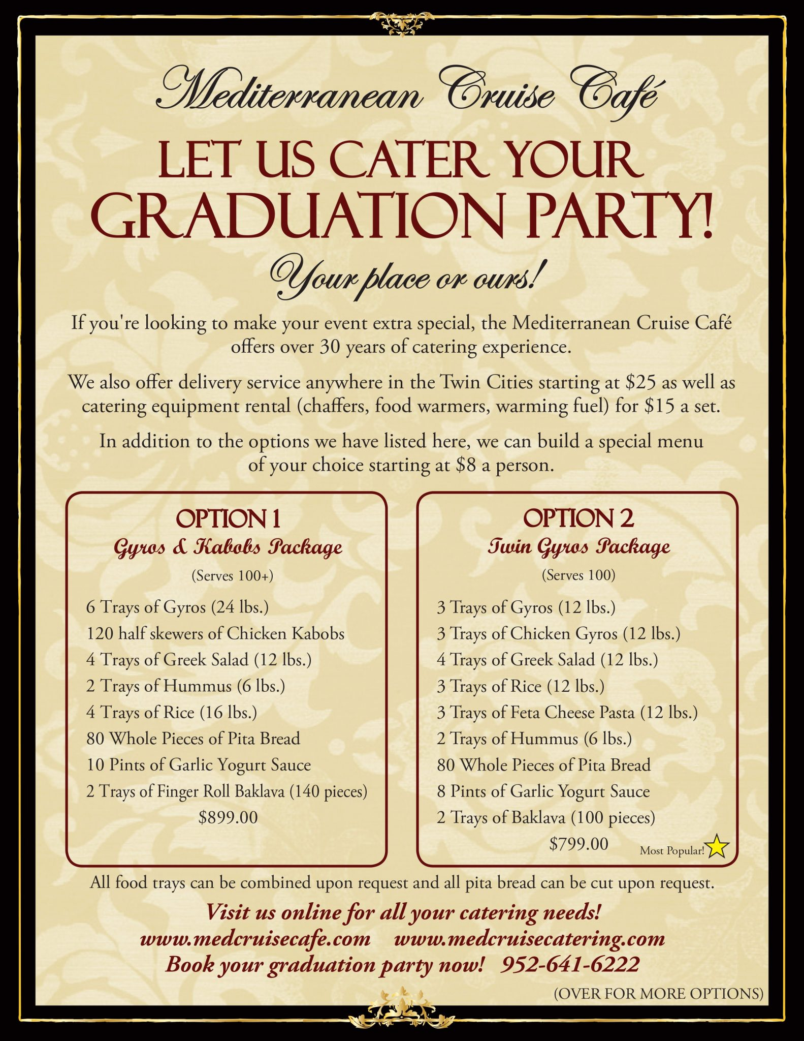 Cater your Grad. Party with us!